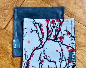 "Kaiju Cut and Sew + KLCTVE ""Sakura"" Micro Suede Cleaning Cloth | Handmade in Austin Texas"