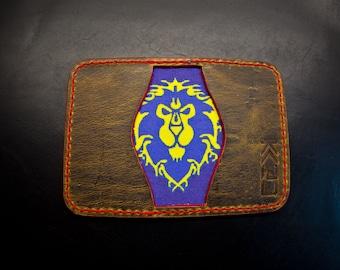 "Kaiju ""Alliance"" 3 Pocket Bifold Minimalist Wallet | Rustic Brown Horween Leather"