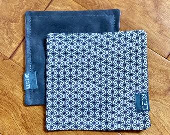 "Kaiju Cut and Sew + KLCTVE ""Asanoha"" Micro Suede Cleaning Cloth | Handmade in Austin Texas"