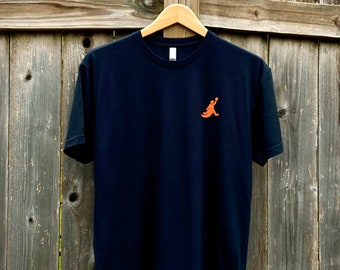 Screen Printed Unisex Black Kaiju Cut and Sew | Air Goji T-Shirt
