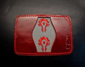 "Kaiju ""Horde"" 3 Pocket Bifold Minimalist Wallet | Red Horween Leather"