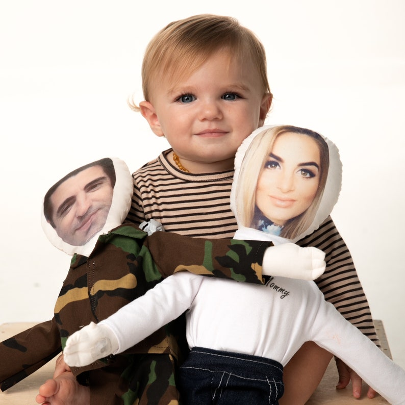 Daddy Doll Daddy Military Deployment Doll Personalized Photo image 0