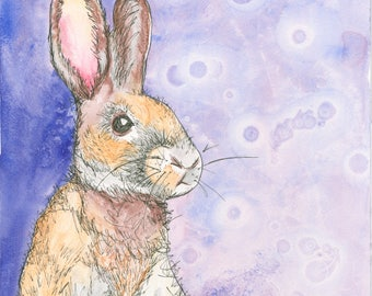 Rabbit in the Moon (Giclee print)