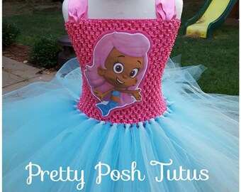 Bubble Guppies tutu dress!! tutu costume birthday tutu dress Molly tutu costume Molly Birthday tutu Halloween costume & Bubble guppies costume   Etsy