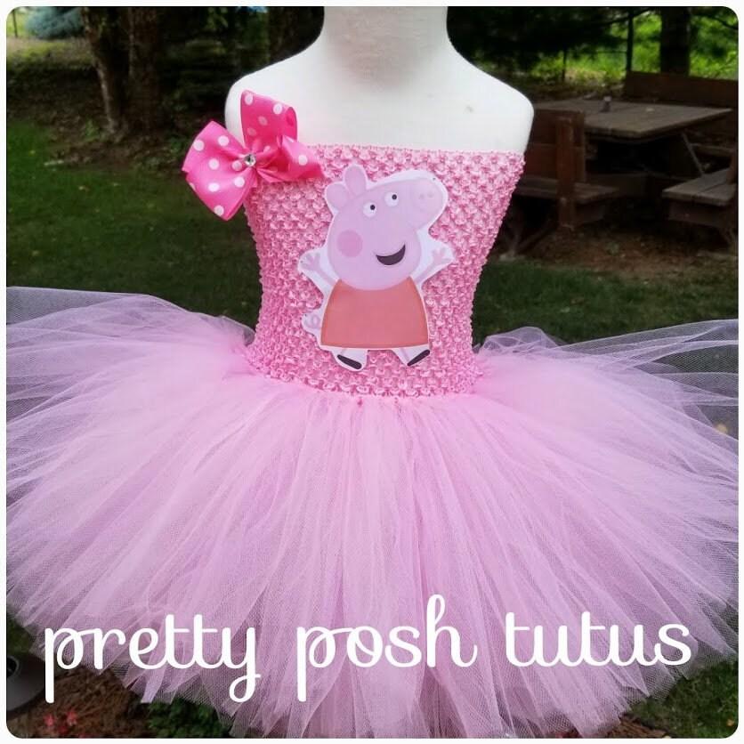 Peppa Pig Costume Peppa Pig Tutu Dress Halloween Costume | Etsy