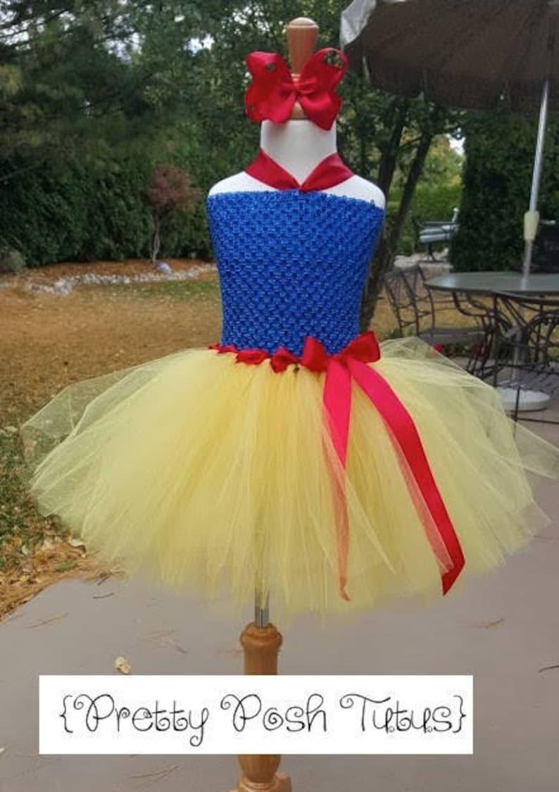 birthday tutu dress Snow white costume tutu dress! soft lined front bodice tutu costume Halloween costume princess tutu dress