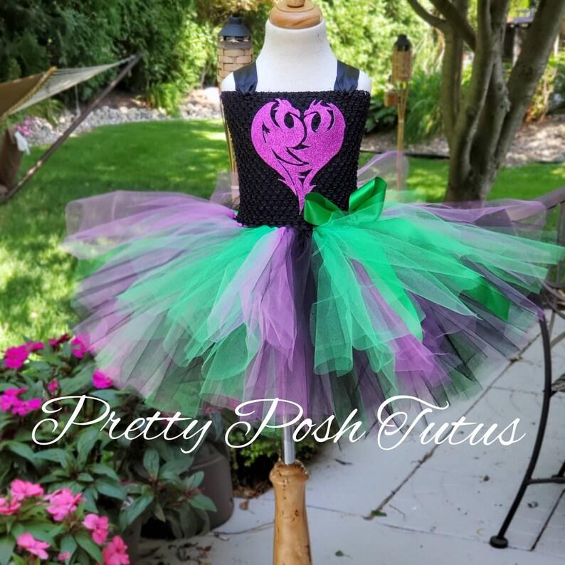 Halloween costume birthday tutu dress Mal costume decendants 3 2 1 Mal tutu dress! Descendants costume decendants tutu costume