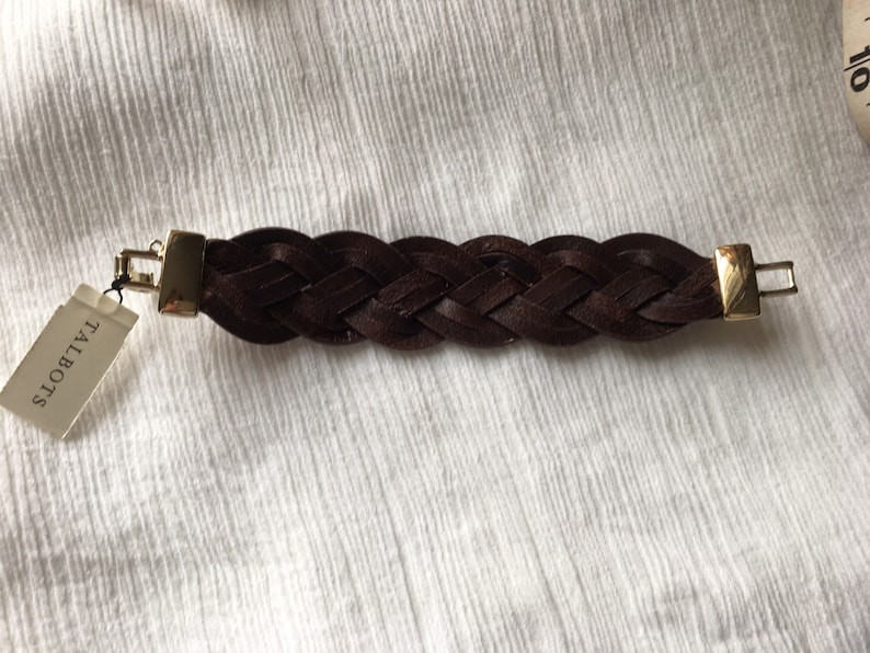 Talbots Better Fashion Statement Jewelry Leather Cuff Bracelet VintageNew with original Tag