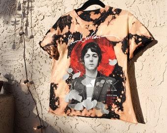 Paul McCartney One on One Tour (2017) Acid Washed & Cropped Tee
