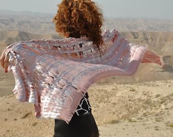 Pink shawl, Festival clothing, Burning man costume, Festival costume, Rave outfit, Burning clothing woman, Pink scarf, Burning man attire