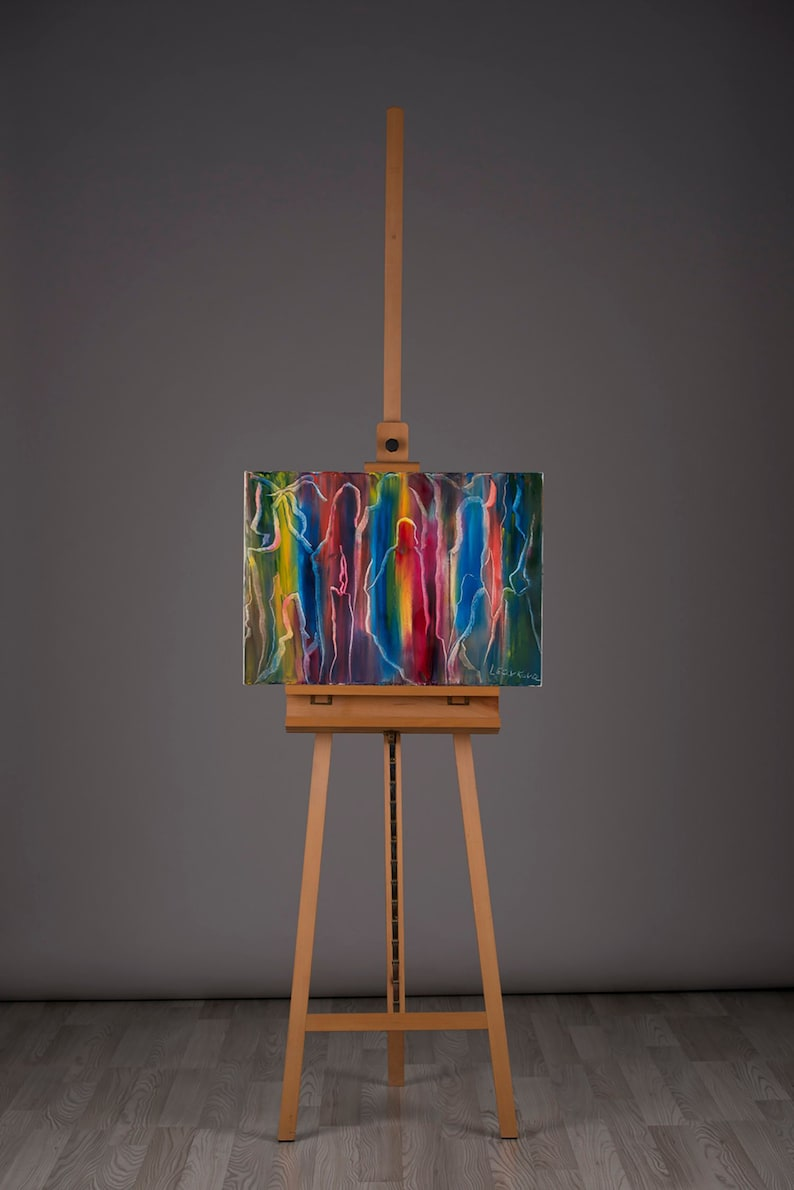 Magic abstract oil painting 50x70cm image 0