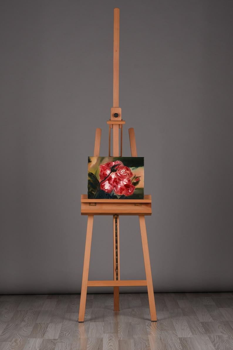 Red Rose original oil painting  30x40cm image 0