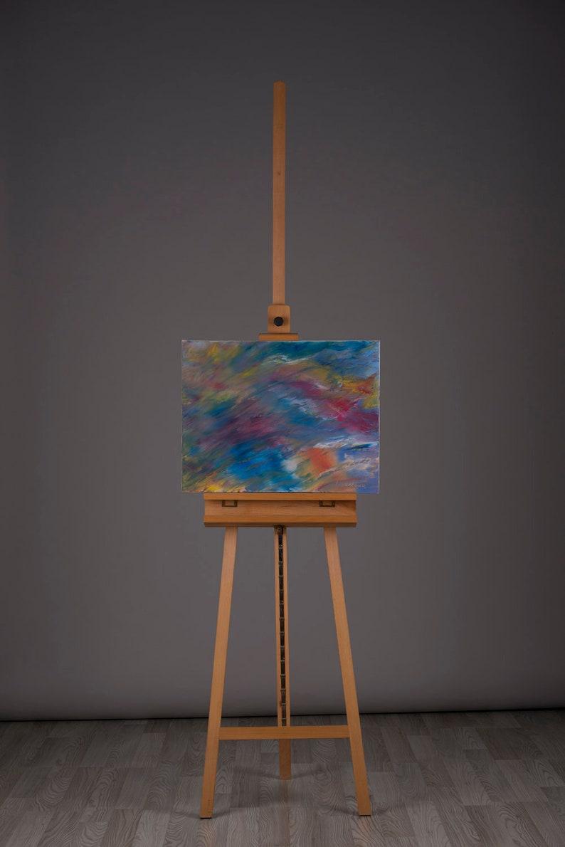 Wind  Oil on canvas original abstract painting 50х65cm image 0