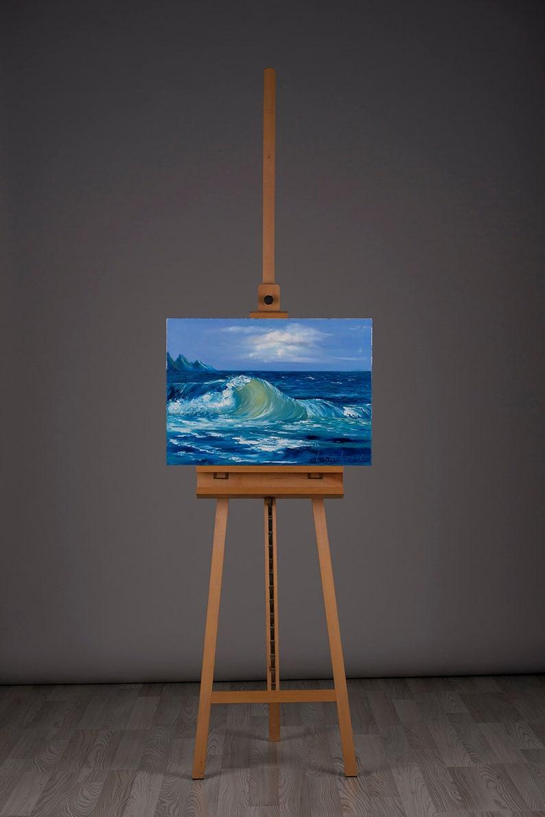 Wave oil painting  50x70cm 19.6''x27.5'' image 0