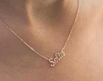 Dainty Name Necklace | Personalized Name Necklace | Custom Name Necklace | Gold Choker Necklace | Custom Choker Necklace | Bridesmaid Gift