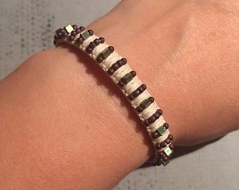 Hemp Spike Bracelet Hemp Bracelet Punk Jewelry Mens Hemp Bracelet
