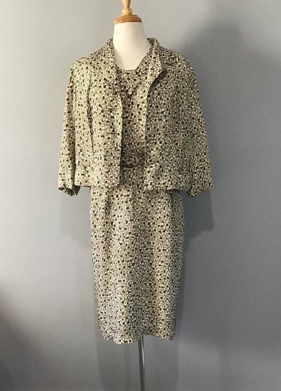 Vintage 1940s Town Suit Dress & Jacket, Wartime Vi