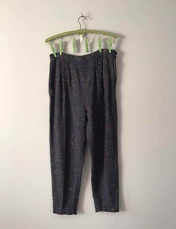 Highwaisted Ankle Length Trousers Fifties Sixties