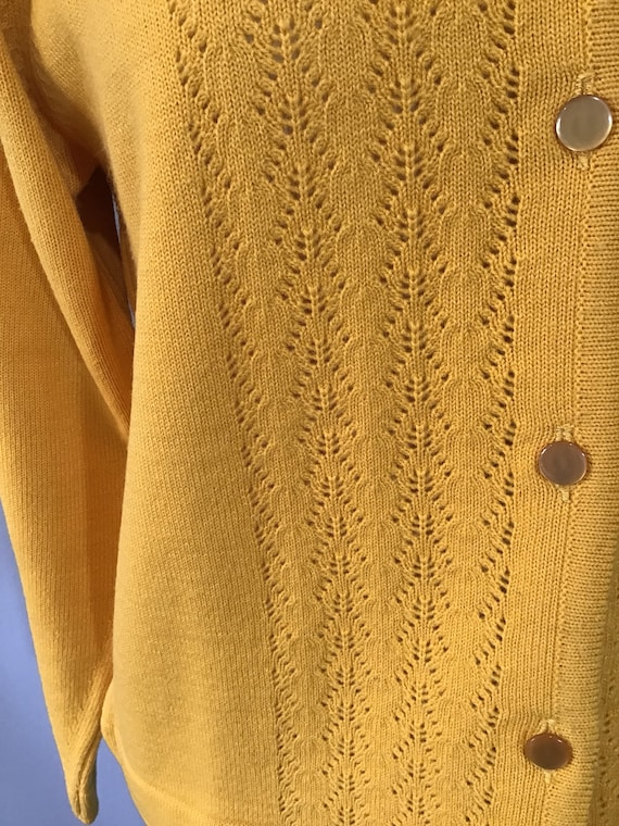 Mustard Top Yellow Knit Jumper vintage 1940s 1950s Rockabilly retro Top 12 16