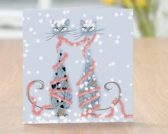 Tinsel & Tinsel - Cats Christmas Card