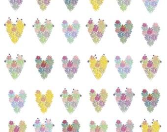 Flower Hearts Card