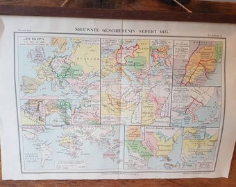 Newest history since 1815 map from atlas