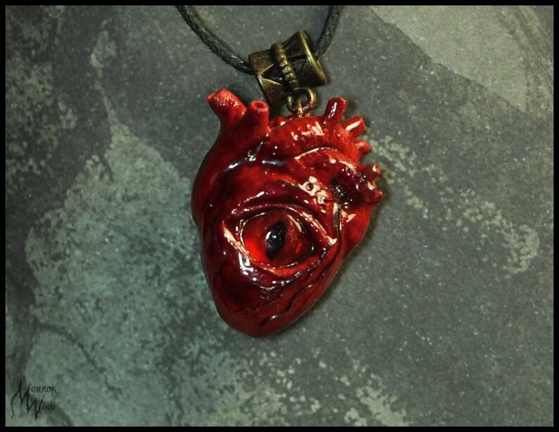 Seltsame Blut Auge Menschlichen Herzens Gruselig Anatomische Etsy