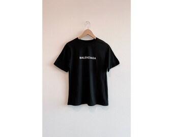 346f3888b2a8f Balenciaga Inspired T-Shirt  Balen Luxury T-Shirt  Black   White Balen Top