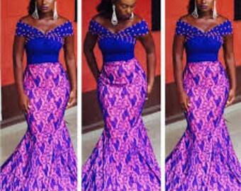 African Dinner Dress Etsy
