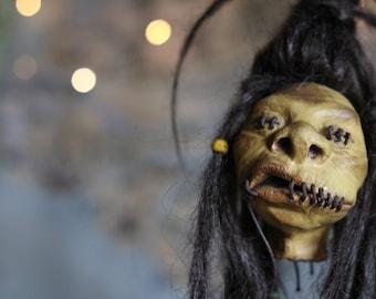 Shrunken Head - Knight Bus- Art Doll - Spelunca - TO ORDER