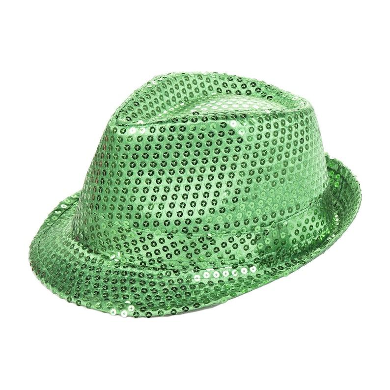 ffd1103604f248 Green Sequin Fedora Dress Up Hat | Etsy