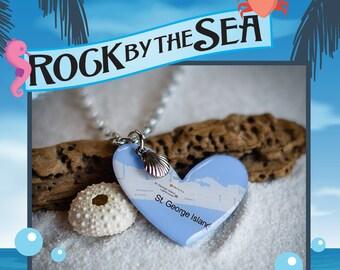 Rock by the Sea: St. George Island Love Heart