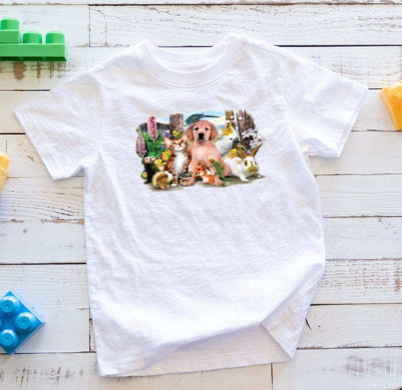 Pet Party Color ~ KIDS ~ Changing T-Shirt ~ Solar Transfer Youth