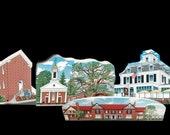 Village Set - Somerset Hills Historic Wood Village 5 pieces