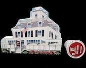 Wood Painted Collectible - 1871 Washington House - Basking Ridge Village