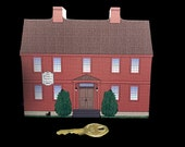 1776 - Widow White's Tavern - Basking Ridge Village -  Somerset Hills Cat's Meow Wooden Collectible