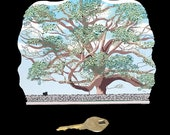 Cats' Meow Wood Painted Collectible - Basking Ridge Oak Tree