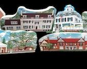 Village Set - 6 Somerset Hills Historic Wood Village pieces