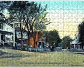 Collectors Puzzle - 286 Piece Color Puzzle and Box - Basking Ridge Village c1914