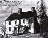 1776 - Widow White's Tavern - Basking Ridge Village -  Somerset Hills Cat's Meow Wooden Collectible