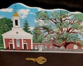 1717 Basking Ridge Church and Iconic Oak Tree Keepsake