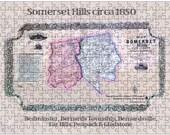Collectors Puzzle - 286 Piece Color Puzzle and Box - Somerset Hills c.1850