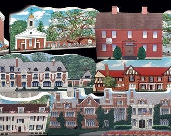 SALE: Village Bundle - 8 Somerset Hills Historic Village Collectibles