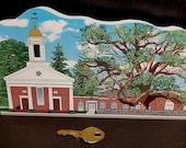 1717 Basking Ridge Church and Iconic Oak Tree Keepsake
