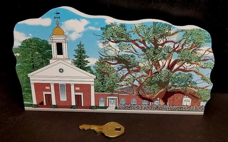1717 Basking Ridge Church and Iconic Oak Tree Keepsake image 1