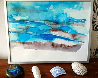 Vision, original watercolorpainting, 24,5 x 19cm, framed.