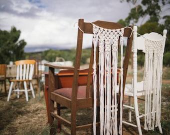 macrame chair decorations