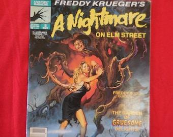 A Nightmare On Elm Street #2 Marvel Magazine 1989 Freddy Krueger Comic Book