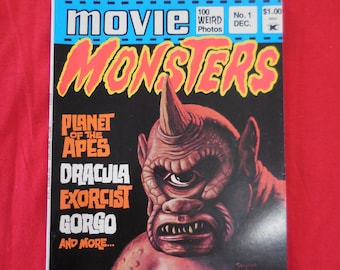 1974 Movie Monsters Magazine #1 FIRST ISSUE  70s monster mag