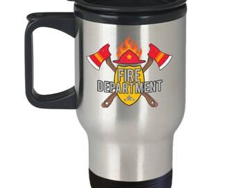 Fireman Travel Mug - Fire Department Gift